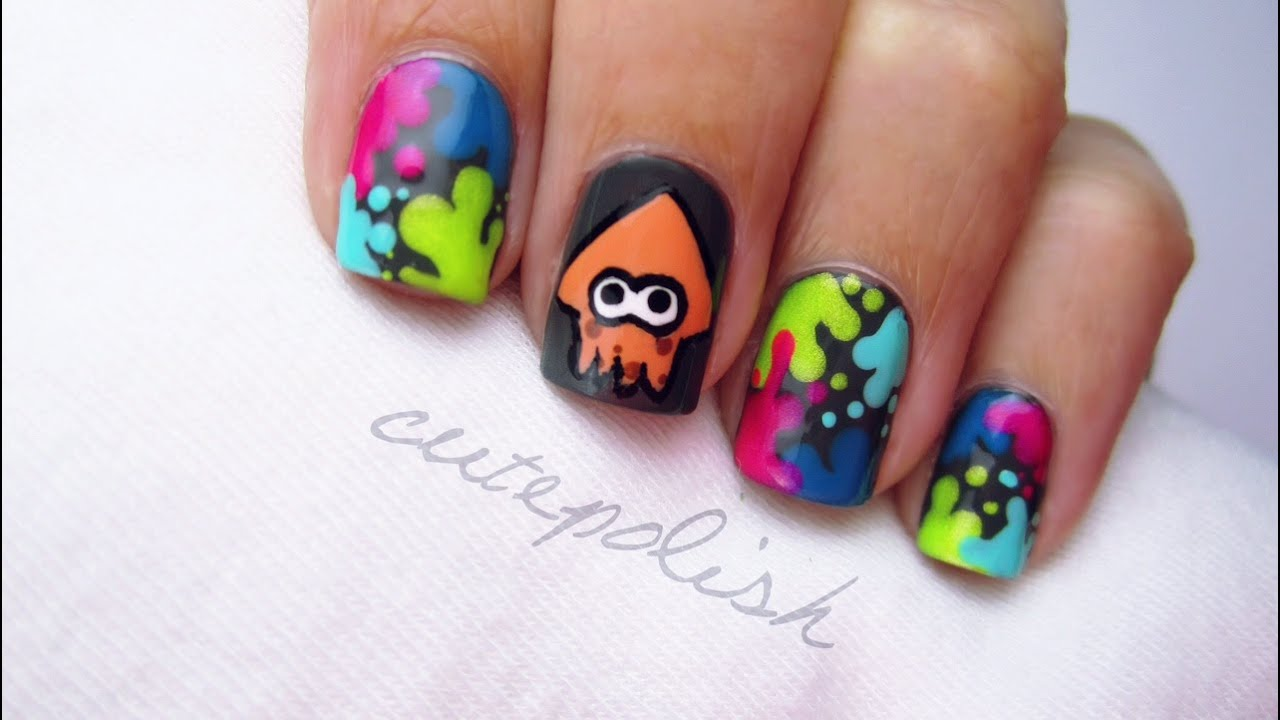 - Splatoon Nail Art Nerd Nail Series - YouTube