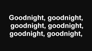 Goodnight Goodnight   Maroon 5 With Lyrics
