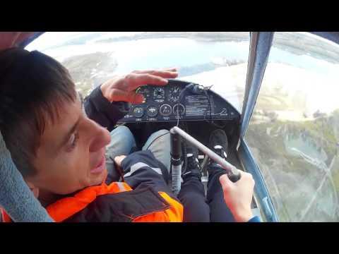 Тренировочный полет на самолете Птенец - 2