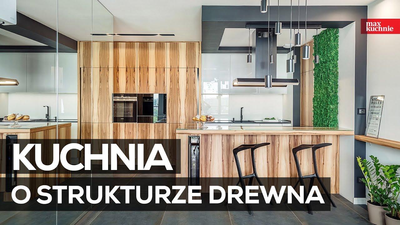 Kuchnia O Strukturze Drewna Max Kuchnie Studio Alline Bochnia