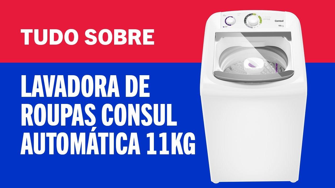 TUDO SOBRE - Lavadora de roupas consul automática CWH11BB