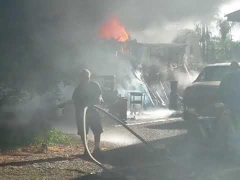 Kennedy Park house fire raw footage El Cajon