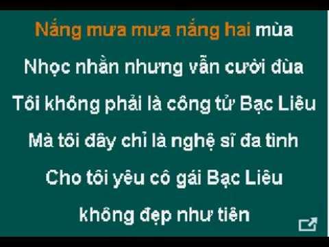 YEU CO GAI BAC LIEU karaoke