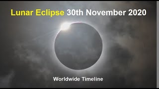 Lunar Eclipse November 2020 | Worldwide Time and Location | November 2020 Moon Eclipse |