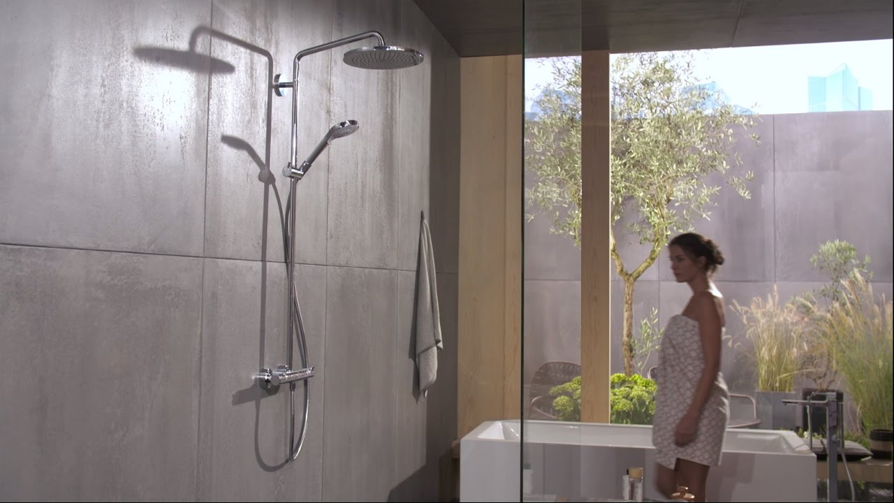 Hansgrohe Ecostat Select Hansgrohe Croma Select 280 Air 1jet Showerpipe (26790000