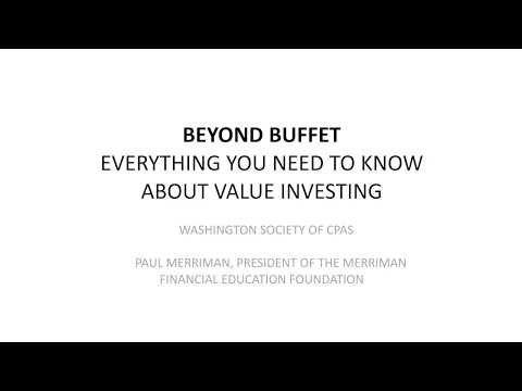 Beyond Buffett: Everything You Need to Know about Value Investing (presentation view)