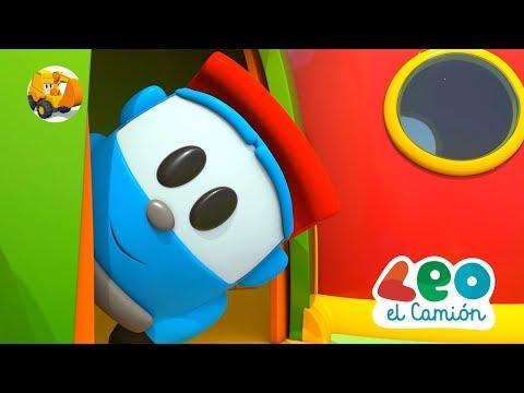 Leo el Pequeño Camión - Leo y la nueva base para los robots