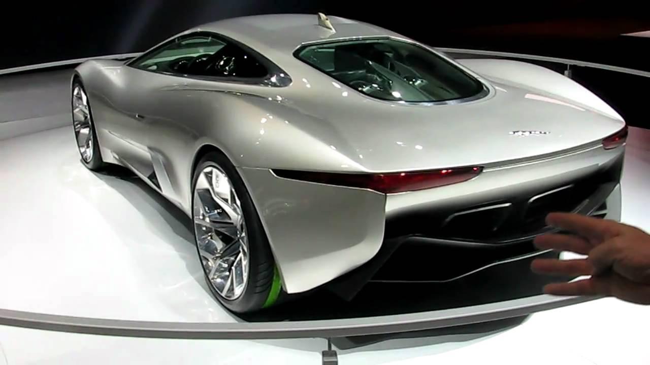 jaguar cx 75 gas turbine electric concept at the los angeles auto show youtube [ 1280 x 720 Pixel ]