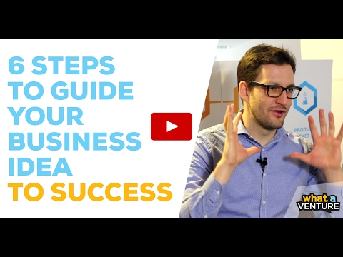 6 Steps To Turn Your Business Idea Into Success –WhatAVenture