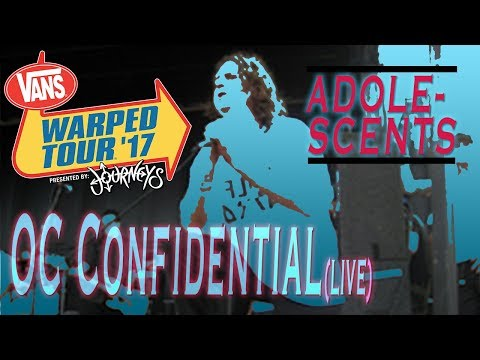 Adolescents - OC Confidential (Live) Warped Tour - West Palm Beach 7/2/2017