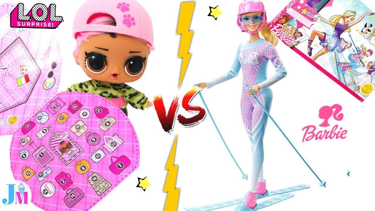 ЛОЛ против БАРБИ + Одевалки Куклы лол и Барби I Адвент ...