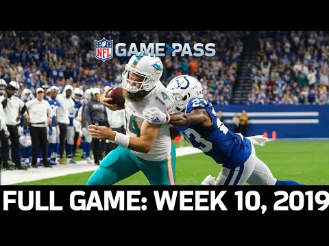 A Surprising Road Upset! Dolphins vs. Colts Week 10, 2019 FULL GAME