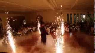 Wedding First Dance w/ Dry Ice Silver Fountains Indoor Fireworks