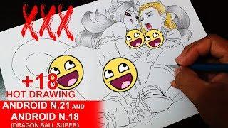 Drawing Android 18 and Majin 21 +18 (Dibujando Androide 21 y 18) ( ͡° ͜ʖ ͡°)