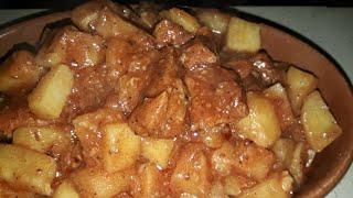 Masakan Arab Cara memasak daging di panci presto.