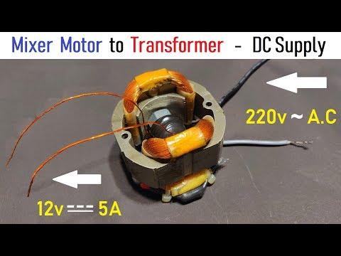 12v-5-amps-supply-for-dc-motor-using-220v-mixer-motor-as-transformer