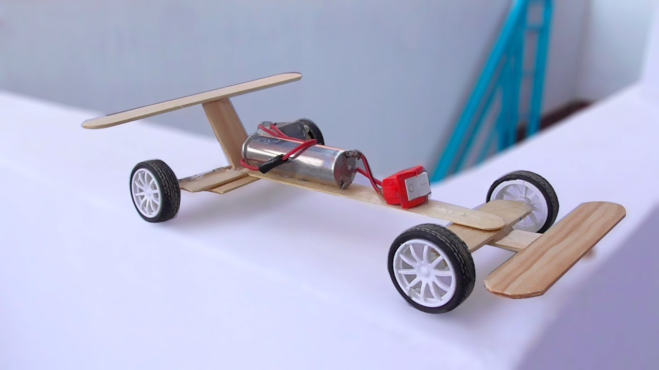 Awesome Car DIY - How to make a RC Car with motor at home - Electric Motor  Card