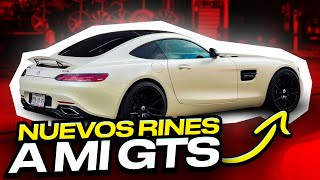 NUEVOS RINES A MI AMG GTS.. *se ve increíble* | ManuelRivera11