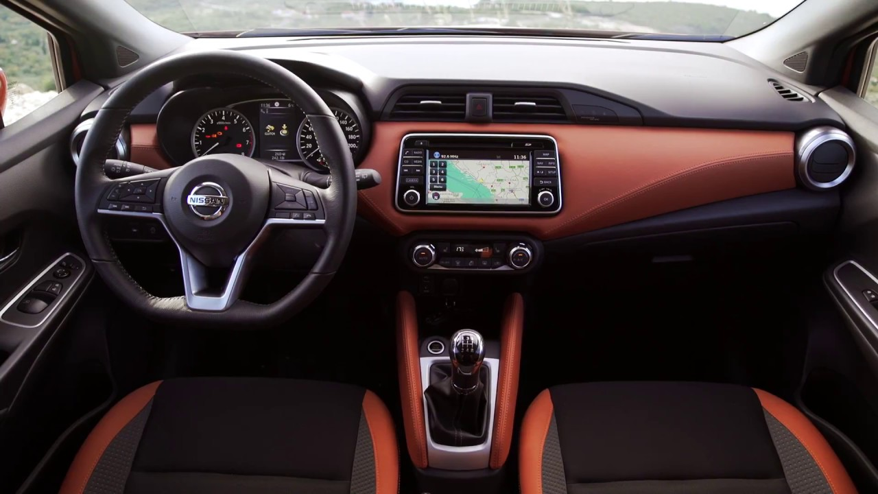 nissan micra 2018 orange interior scenes official video. Black Bedroom Furniture Sets. Home Design Ideas