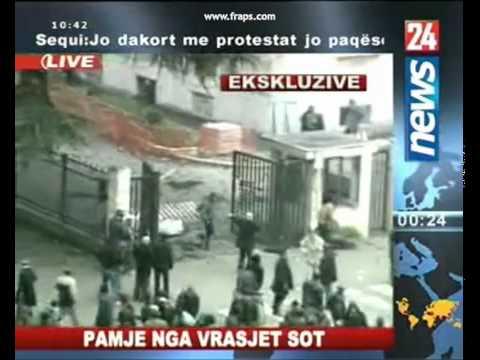 Shocking Video : Albanian Government kills protestants