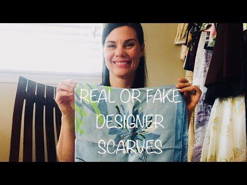 Real or Fake??  Designer scarves.