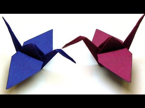 Origami Tiere Falten - #03 Kranich (crane)