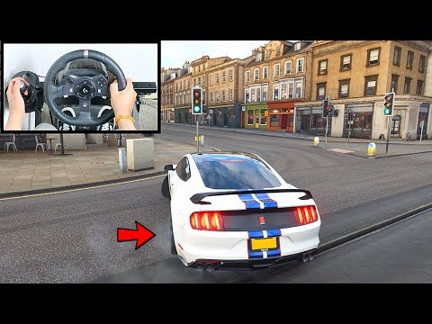 Forza Horizon 4 Drifting Ford Shelby Mustang GT350R (Steering Wheel + Shifter) Gameplay