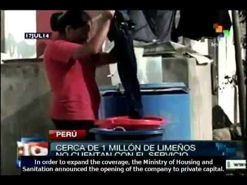 Peru: Drinkable water service's privatisation may raise cost by 400%