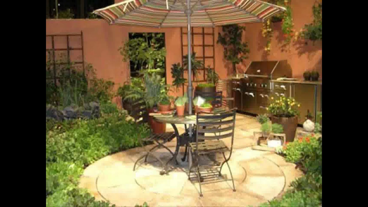 Small home courtyard garden design ideas youtube for Very small courtyard ideas