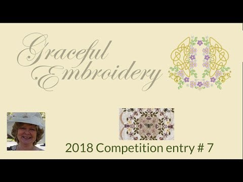 Graceful Embroidery 2018 competition entry 7