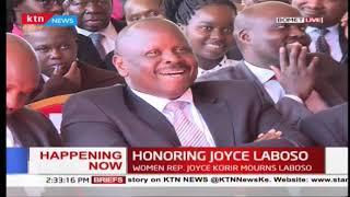 "DP Ruto funny joke about Isaac Ruto's ""Mukutano Imekwishia"" phrase at Laboso's memorial service"