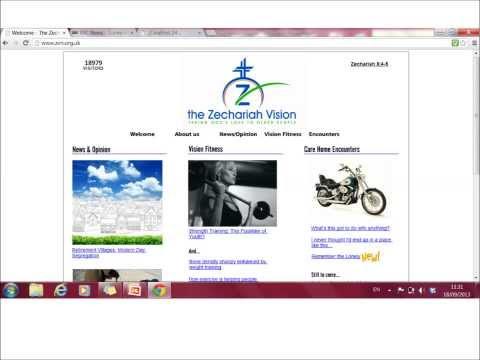 Zechariah Vision Presentation to Local Cambridge Church 18 Sep 13