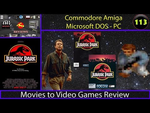 Movies to Video Games Review - Jurassic Park (Amiga/DOS)