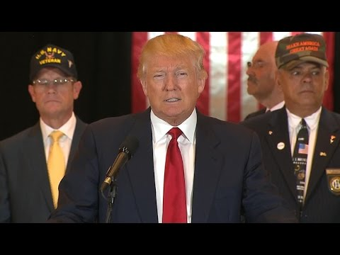 Trump addresses veterans fundraising