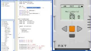 Mindstorms NXT - Introduction to NXC Programming - 10 - Calculate the x coordinate to center text