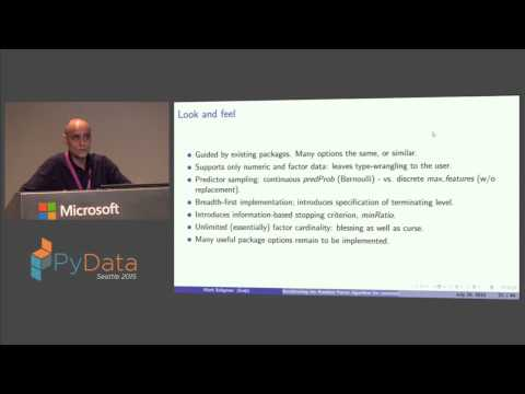 Mark Seligman: Accelerating the Random Forest algorithm for commodity parallel hardware