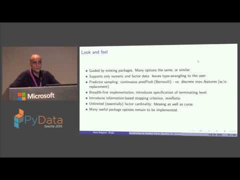 Mark Seligman: Accelerating the Random Forest algorithm for commodity parallel hardware