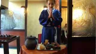 Чайная церемония в Самурай суши-баре