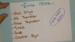 EMİNE IŞINSU'NUN ESERLERİ ÖYKÜLÜYORUM