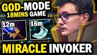 WHAT A GAME!! Miracle Invoker GOD MODE Deleted Storm Spirit | EZ 12mins Aghnim - Epic Gameplay