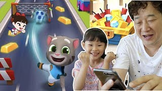 라임파파와 토킹톰 골드런 게임 대결  LimeTube & Toy 라임튜브