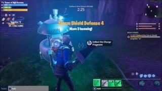 Fortnite Outlander Get Charge Fragment Deploy Shock Tower
