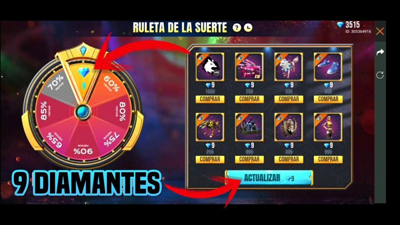 ruleta de free fire para ganar diamantes