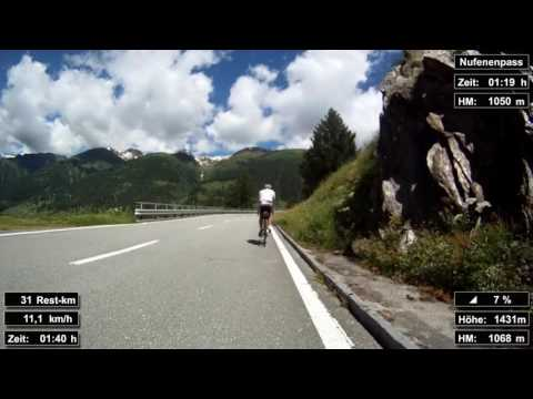 Indoor Cycling Training: Nufenenpass (Suisse / Alps) - in full length!!! (Part 1/3)