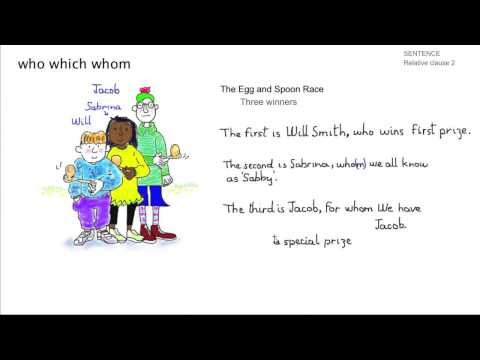 Learn English - Sentences: Relative Clauses 2 (who, whom, which)