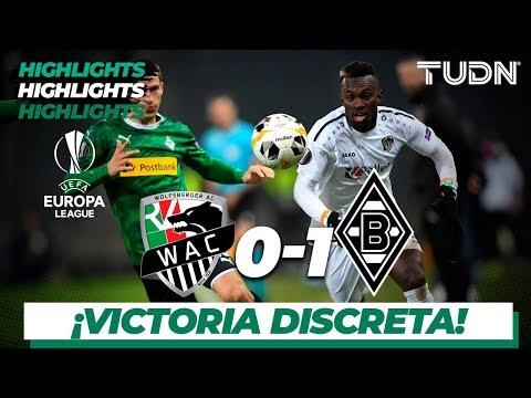 Highlights | Wolfsberger AC 0 - 1 Borussia Mönchengladbach | Europa League - J5 - Grupo J | TUDN