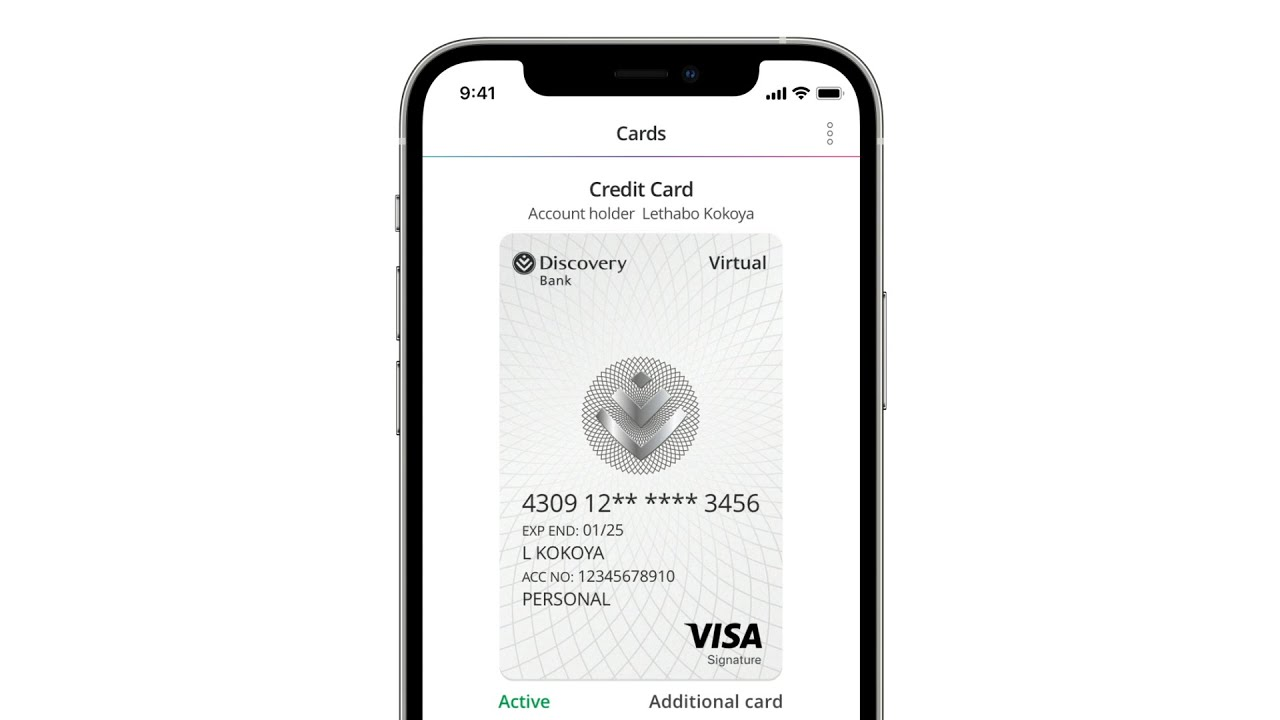 How To Set Up Your Discovery Bank Virtual Card Ios Youtube