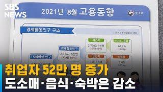 취업자 52만 명 증가…도소매 · 음식 · 숙박 -15…
