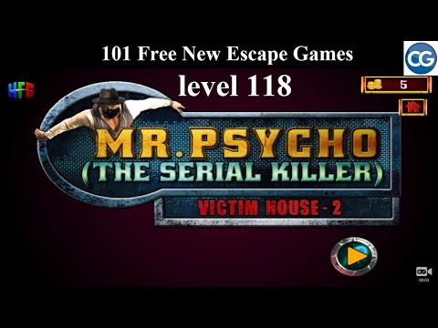 101 Free New Escape Games Level 118- Mr Psycho The Serial Killer VICTIM's HOUSE 2 - Complete Game