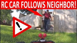 henry the fpv rc car following clueless neighbour filmed with gopro